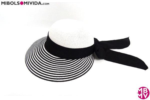 Sombrero Maxi Visera Blanco Y Negro, MBMV.