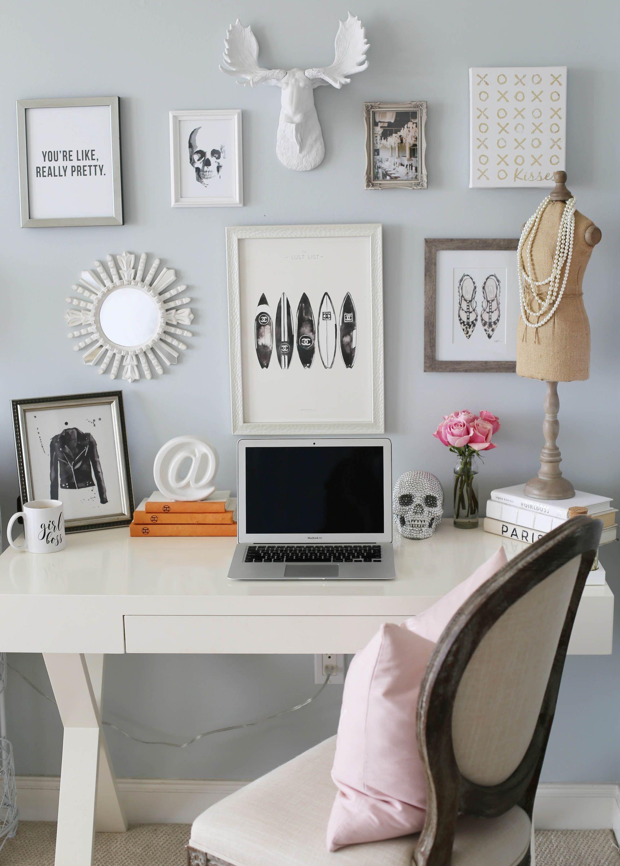 desk home office styled by kasey | backyard | Pinterest | Office ...