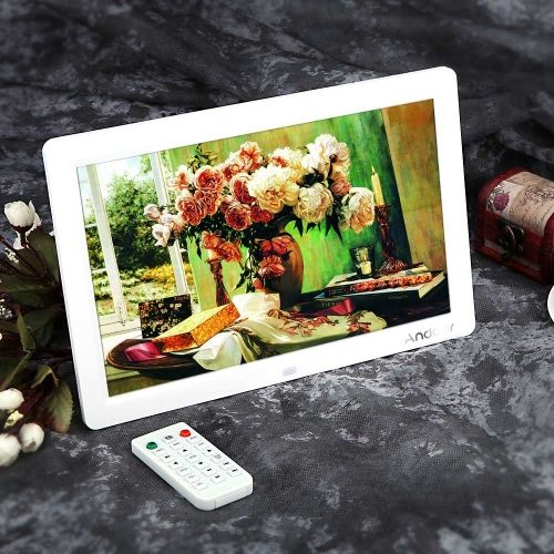 12 Hd Tft Lcd 1280 800 Full View Digital Photo Frame Alarm Clock Mp3 Mp4 Movie Player With Remote Desktop Digital Photo Frame Photo Frame Photo