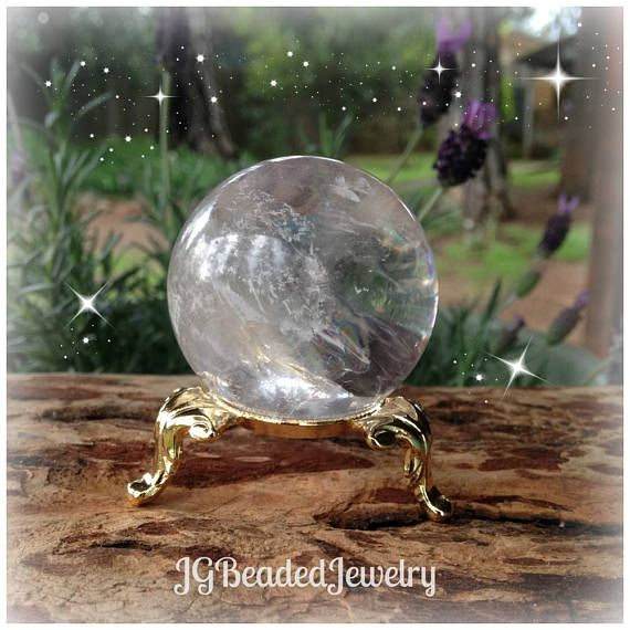 Gold Crystal Ball Display Stand Three Legged Sphere Holder Ornate Decorative Egg Holder See Description For Sizing Crystal Ball Crystals Large Crystals