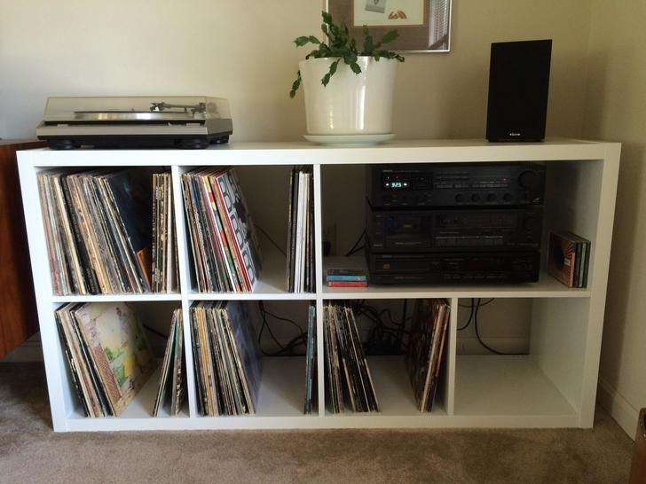 ikea kallax expedit turntable audio storage hacks home ideas pinterest ikea kallax. Black Bedroom Furniture Sets. Home Design Ideas