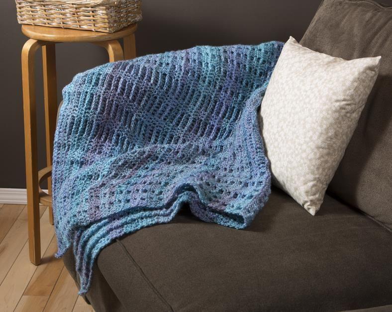 James Brett Marble Chunky Yarn Crochet Afghan Craftwarehouse