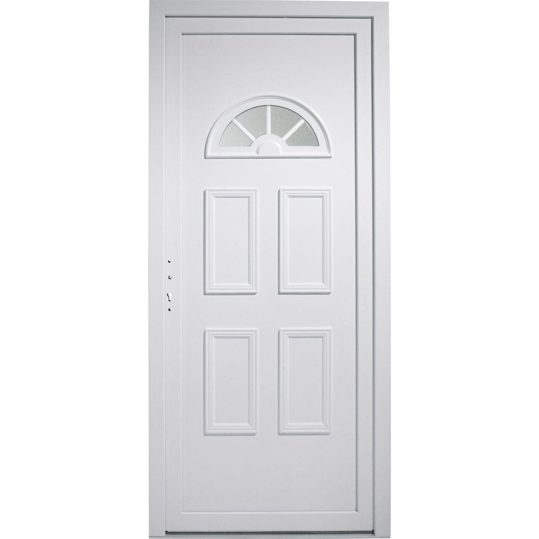Porte Entree Maison Pvc Elegance Primo Blanc Poussant Droit H215 X L90cm Materiaux Menuiserie Porte Magasin Ler Porte Entree Maison Entree Maison Entree