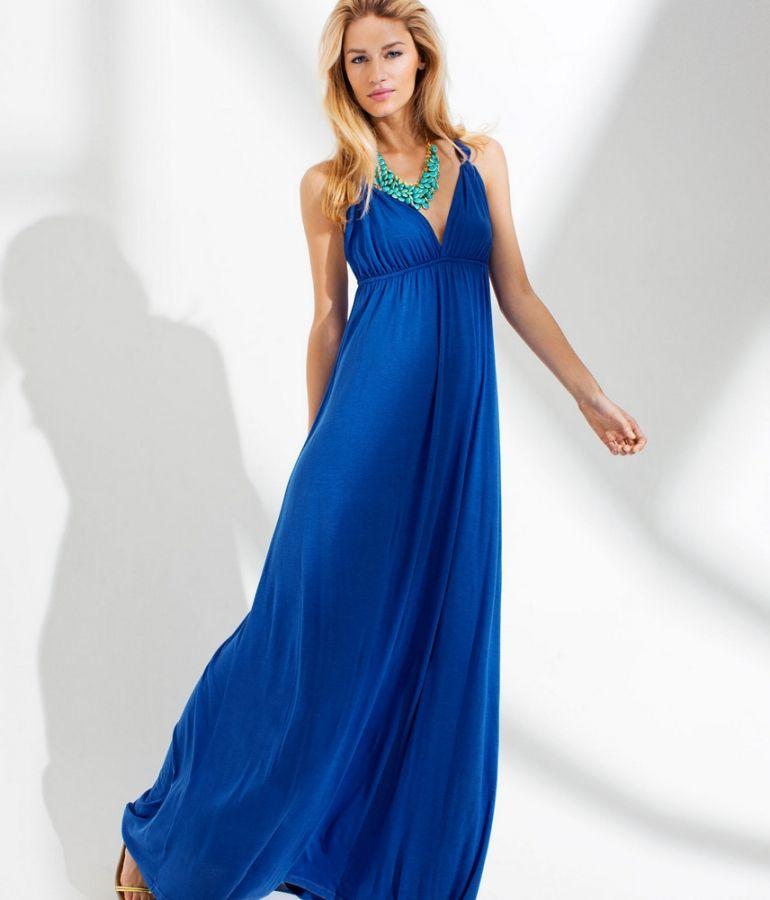 Unique Wedding Dresses Au: Cobalt Blue Maxi Dress...would Also Look Good With An