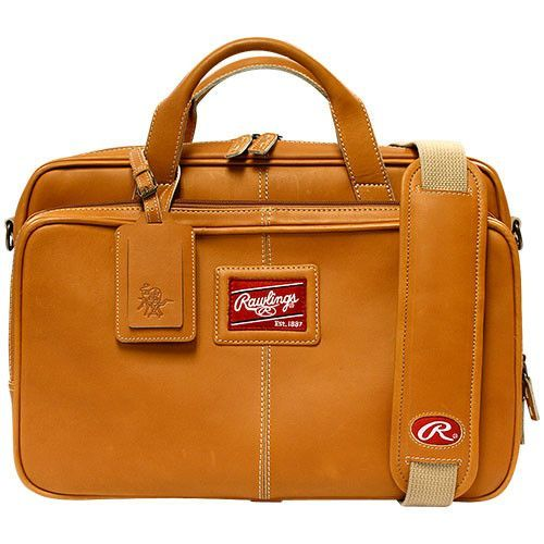 Rawlings Premium Heart Of The Hide Leather Briefcase Tan