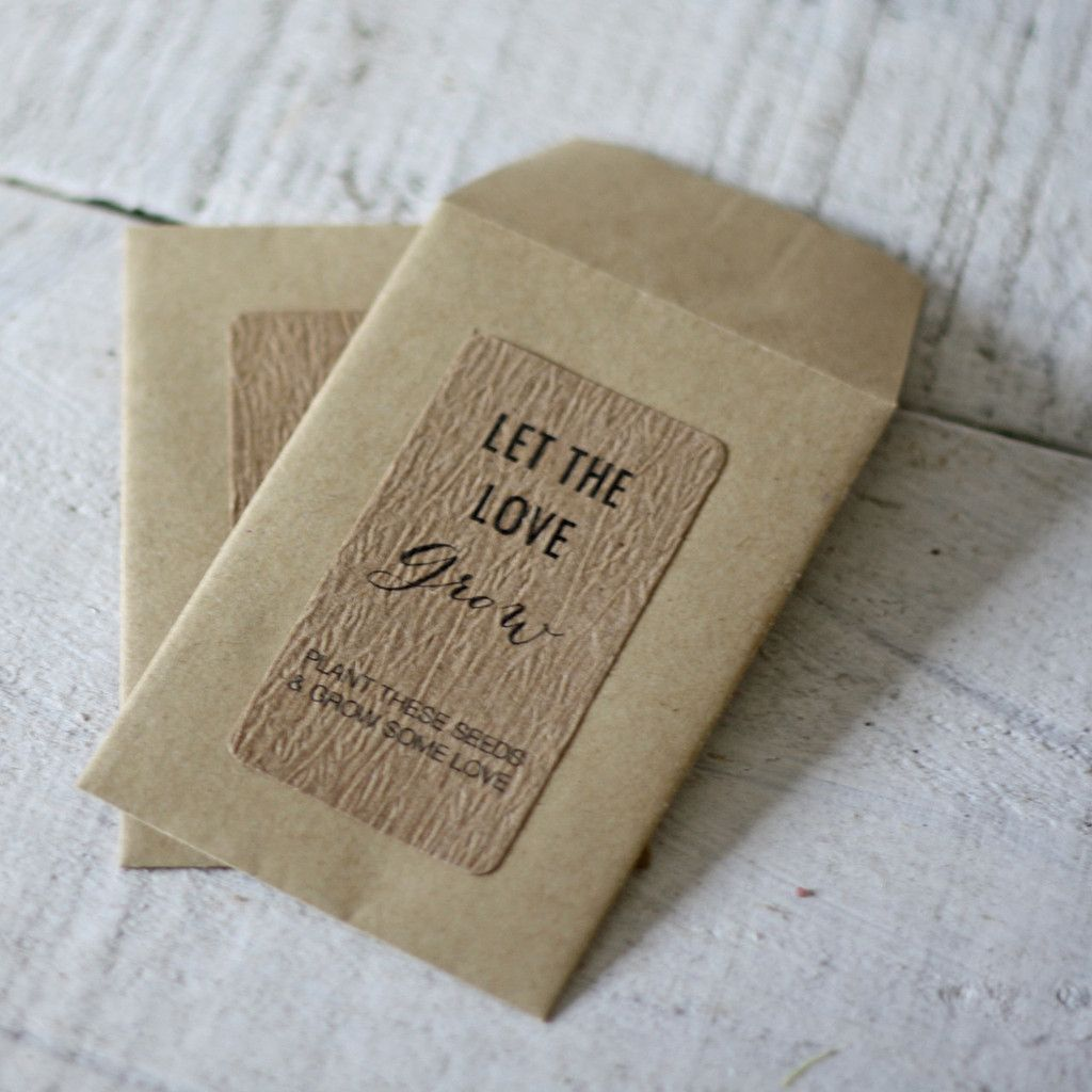 Let The Love Grow Wedding Favour Stickers Non Personalised Sheet Of 18