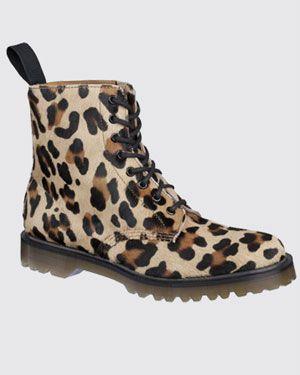 Dr Martens Pascal leopard boot
