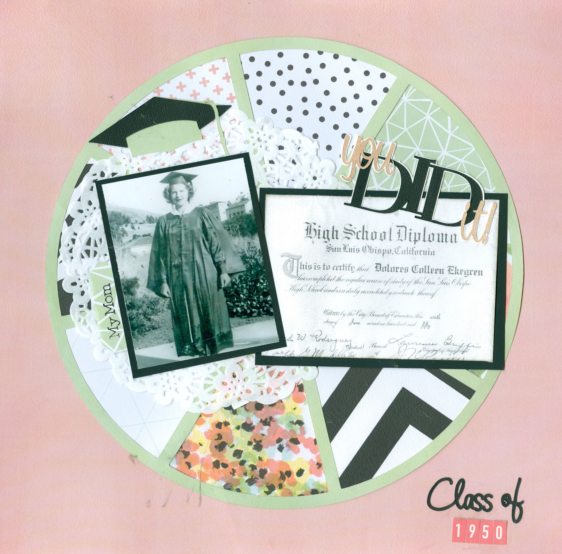 Scrapbook ideas graduation - My Mother S High School Graduation 1950 Scrapbook Com