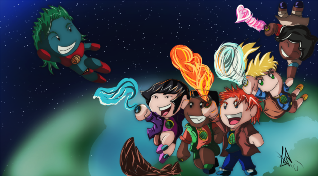 Captain Planet And The Planeteers By Fezudu Deviantart Com On Deviantart Captain Planets Anime