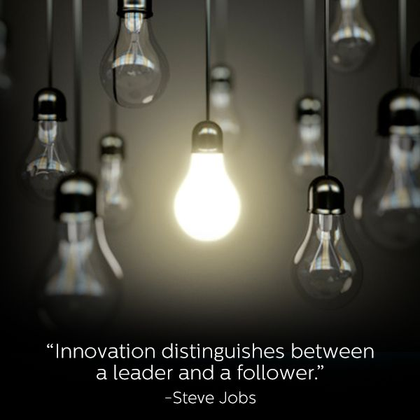 "innovation distinguishes between a leader and a follower Innovation is a critical part of leadership steve jobs said, ""innovation  distinguishes between a leader and a follower"" if leaders are not willing to look  for."