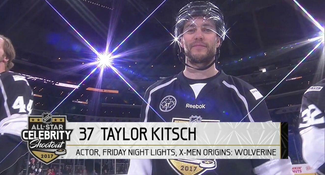 Taylor kitsch -NHL Celebrity All Star Game 2017 LA