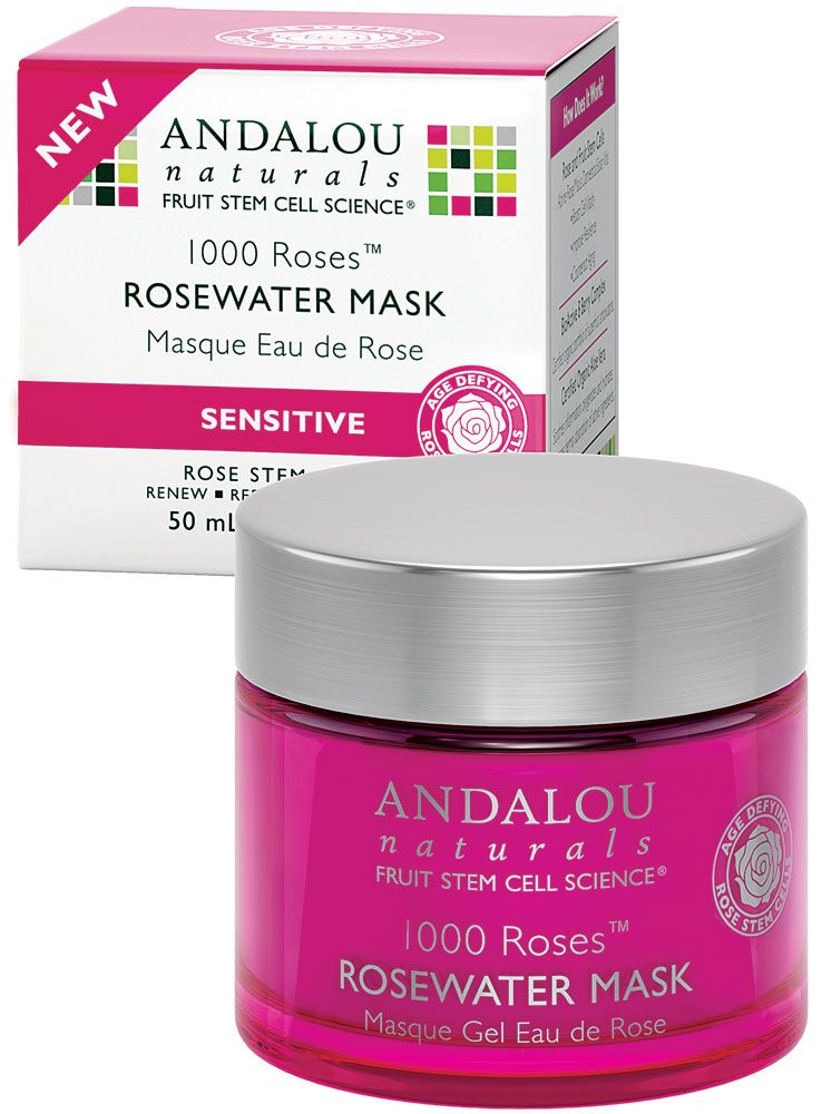 4 Pack - Andalou Naturals 1000 Roses Rosewater Mask 1.7 oz Elizabeth Arden PRO Skin Brightening Serum-Professional