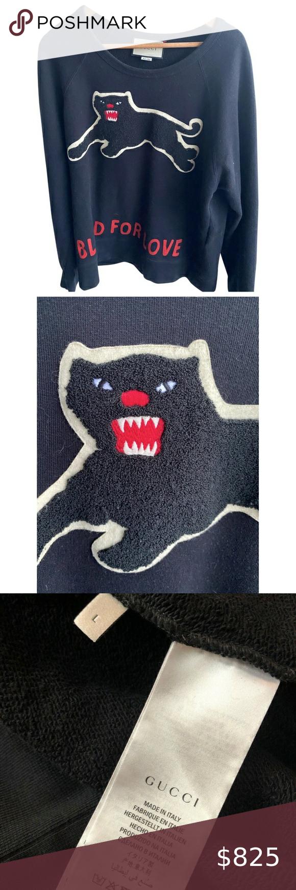 Gucci Black Panther Sweatshirt Sweater L Gucci Black Panther Sweatshirt Sweater L Gucci Sweaters Crewneck Gucci Black Sweatshirt Sweater Sweatshirts [ 1740 x 580 Pixel ]