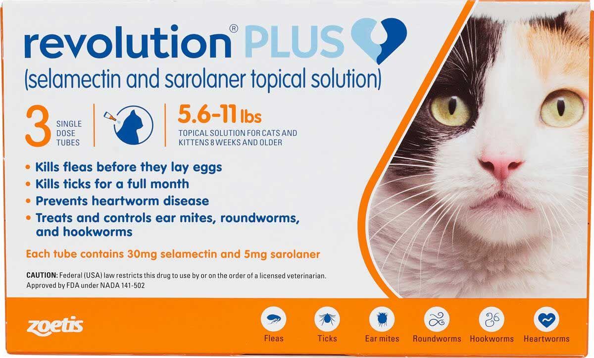 Revolution Plus For Cats Zoetis Animal Health Safe Pharmacy Cat