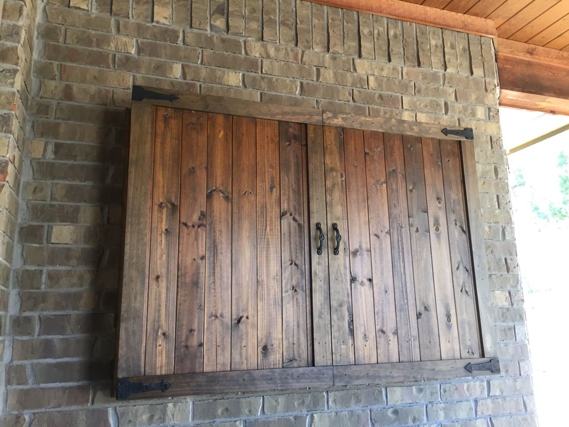 Bagoes Teak Furniture Outdoor Tv Cabinet Wall Mounted