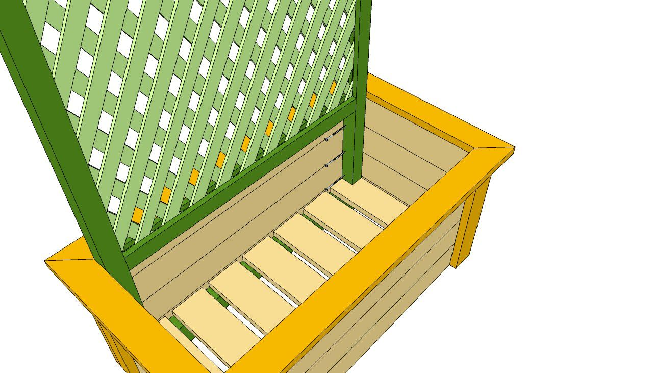Planter with Trellis Plans Woodworking plans free, Diy