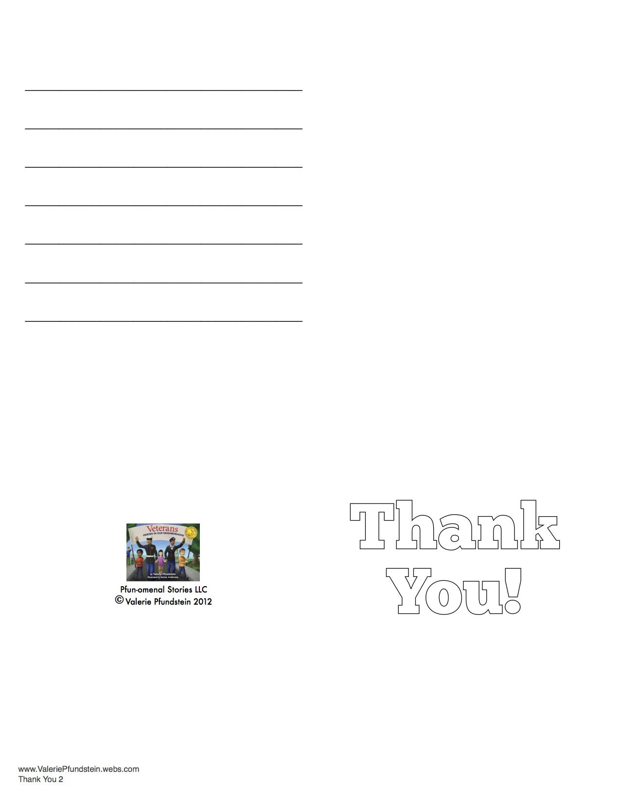 Printable Thank You Cards To Send To Your Veteran Heroes