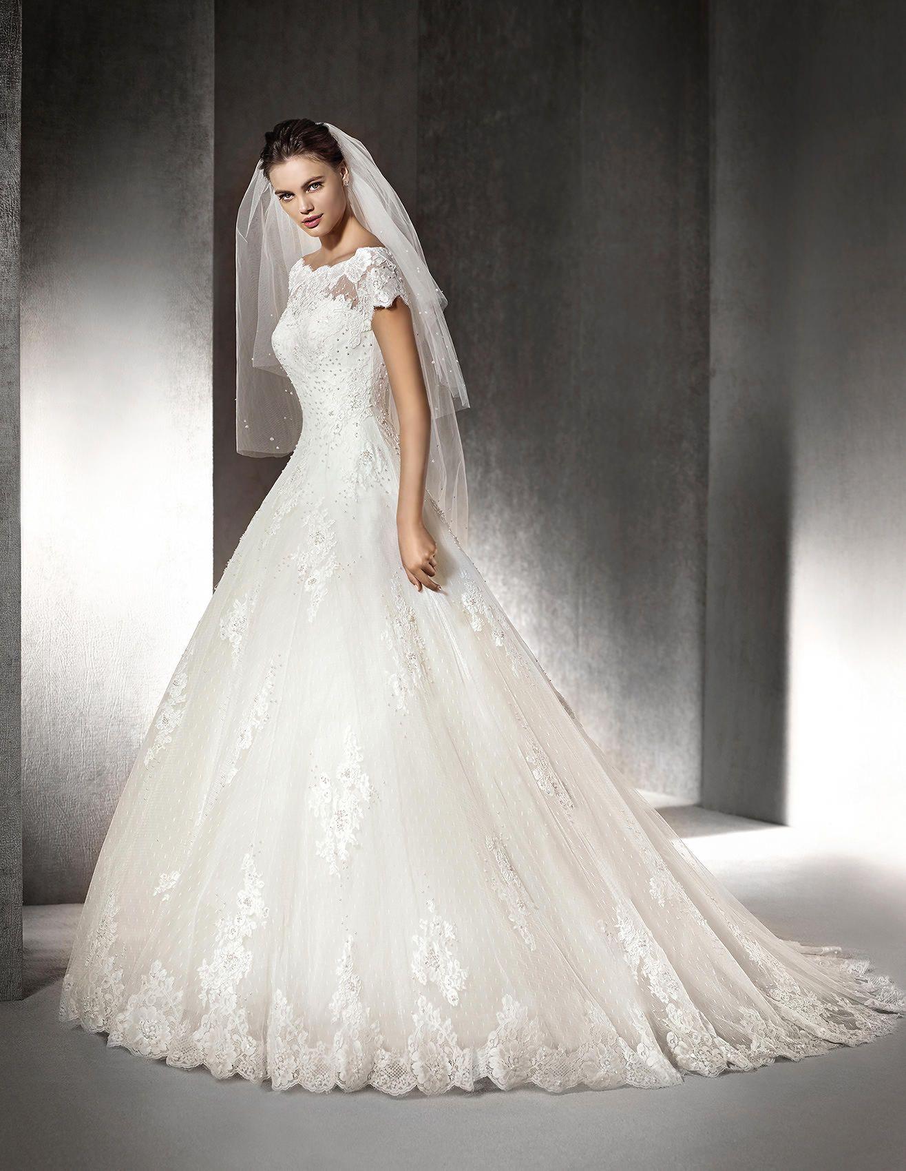 SOPHIE - Brautkleid im Prinzessin-Stil mit U-Boot-Ausschnitt | St ...