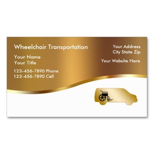 Medical Wheelchair Transport Business Cards This Great Business