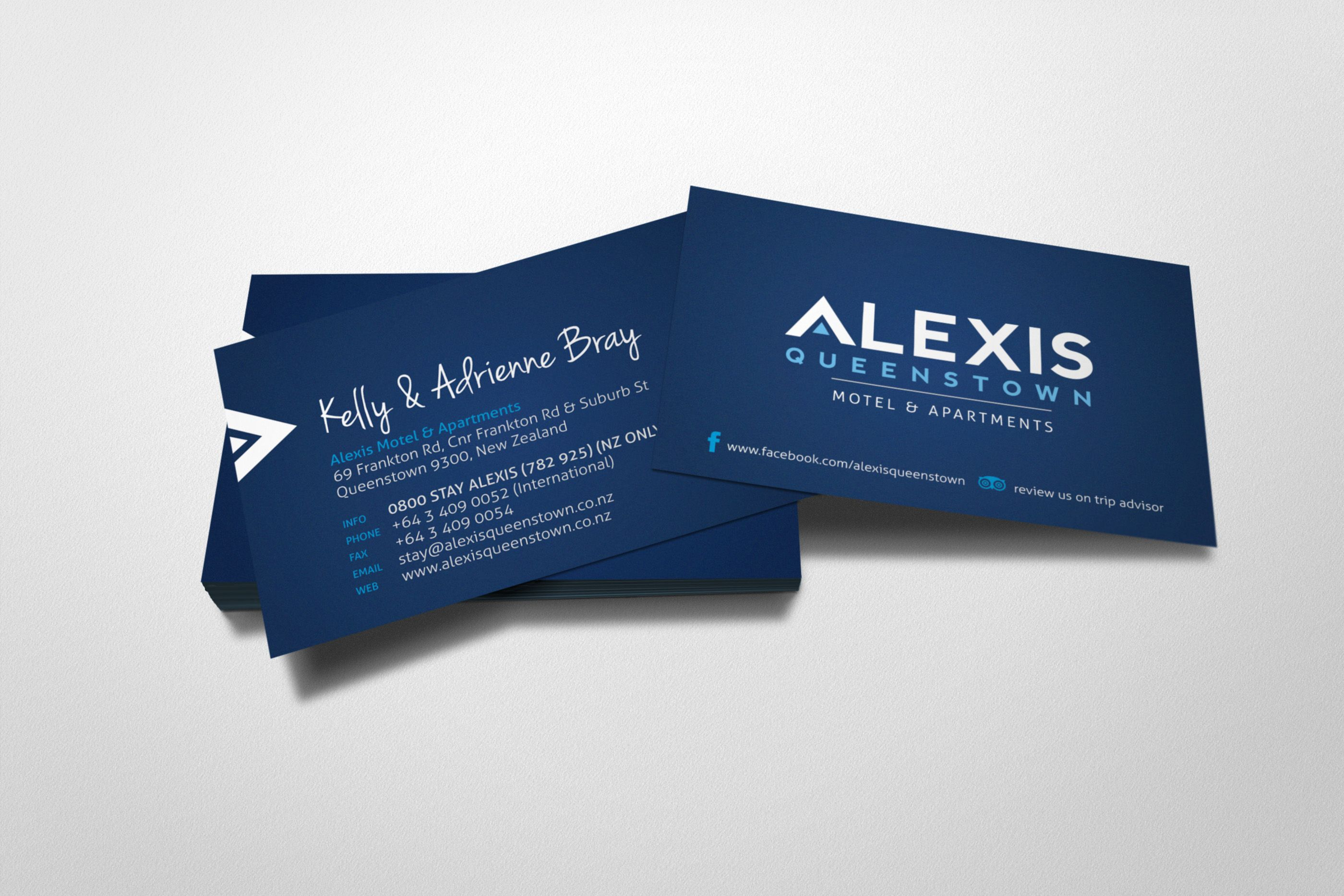 Alexis Queenstown Accommodation Business Card Design Print