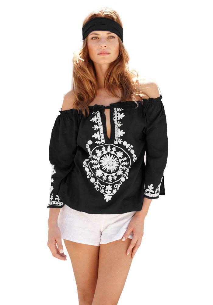 Soraya Wool Embroidered India Cotton Top