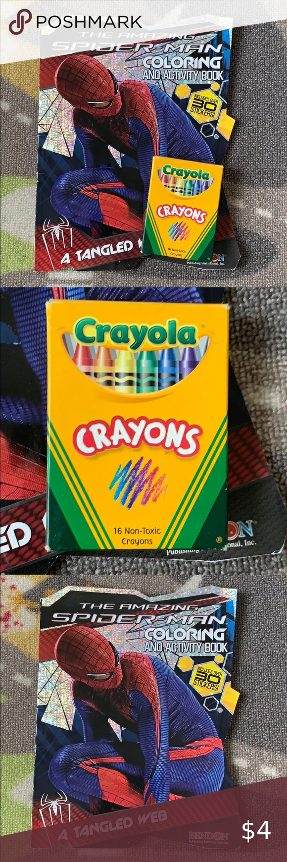 Spider Man Coloring Book Crayons Set In 2020 With Images Crayon Set Spiderman Coloring Crayola Crayons