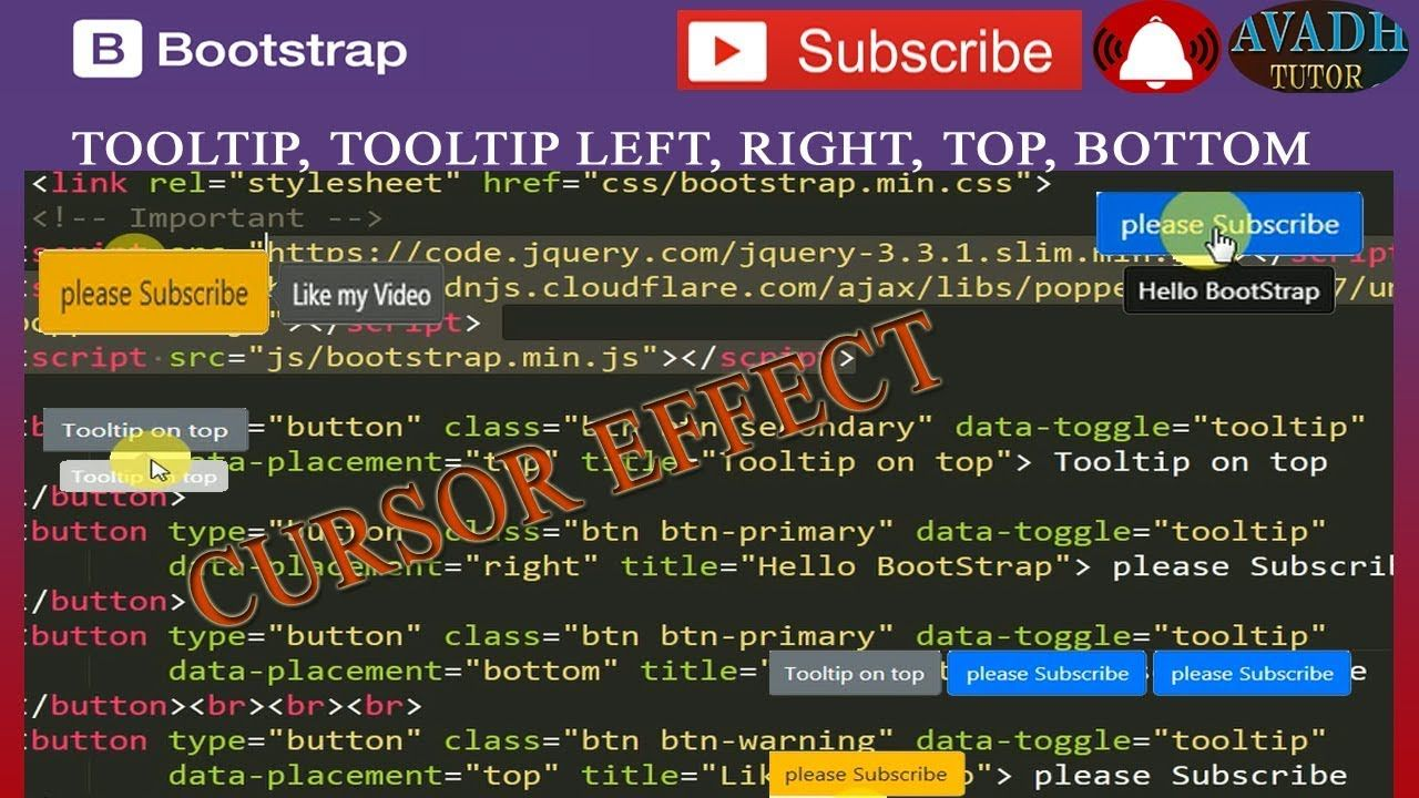 tooltip bootstrap | mouse move then data display using