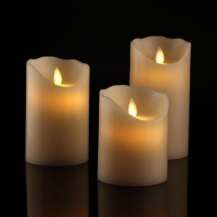 27 Inexpensive Ways To Make Your Dorm Impossibly Cozy Flameless Candles Flameless Candles With Timer Flameless Candle Set Fake candles that look real