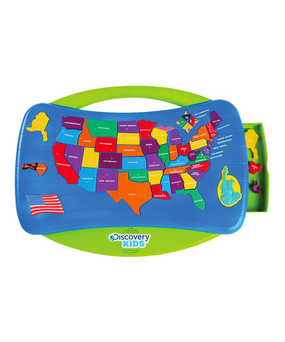 Look at this USA Talking Puzzle Map