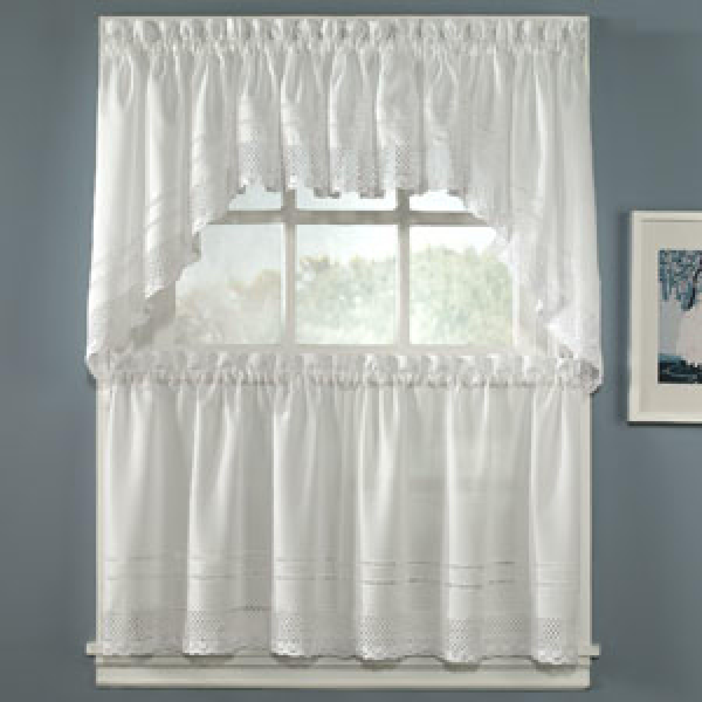 Crochet Trim W Hemstitch Detail Tier Boscov S Tier Curtains