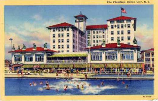 Ocean City Nj The Flanders Hotel In 1938