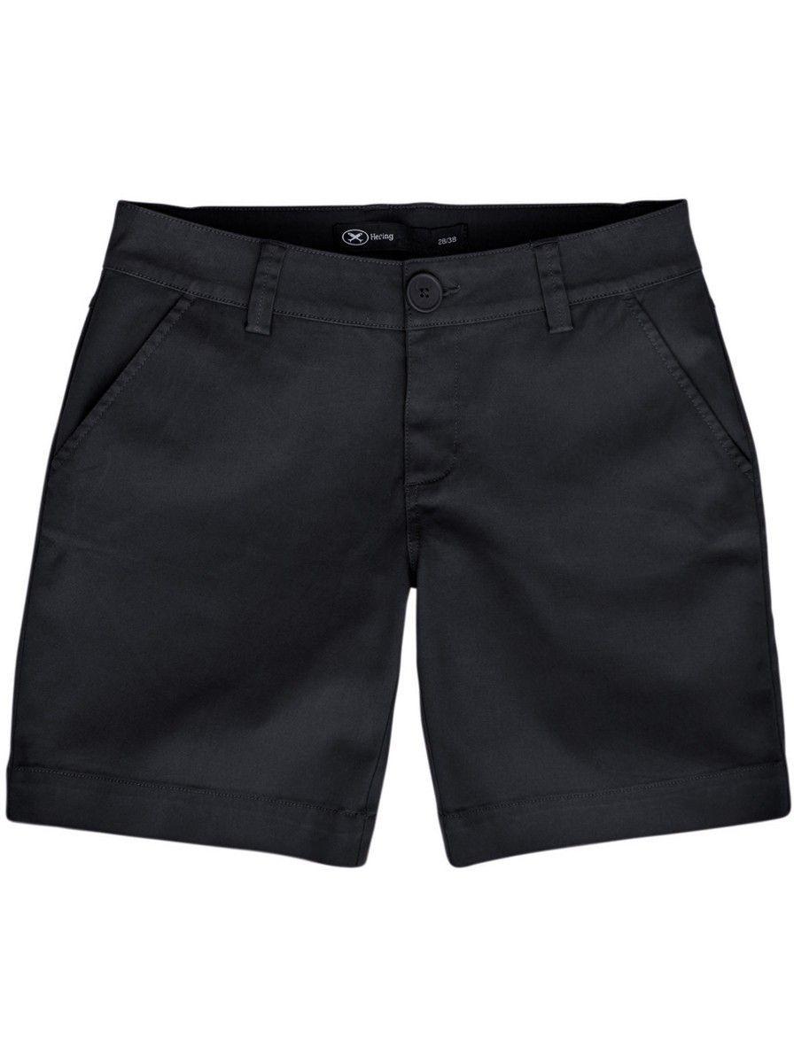 d055b353e Bermuda feminina em tecido de algodão e elastano na cor preto em tamanho  034. Bermuda feminina confeccionada em tecido de algodão com elastano em  sua ...