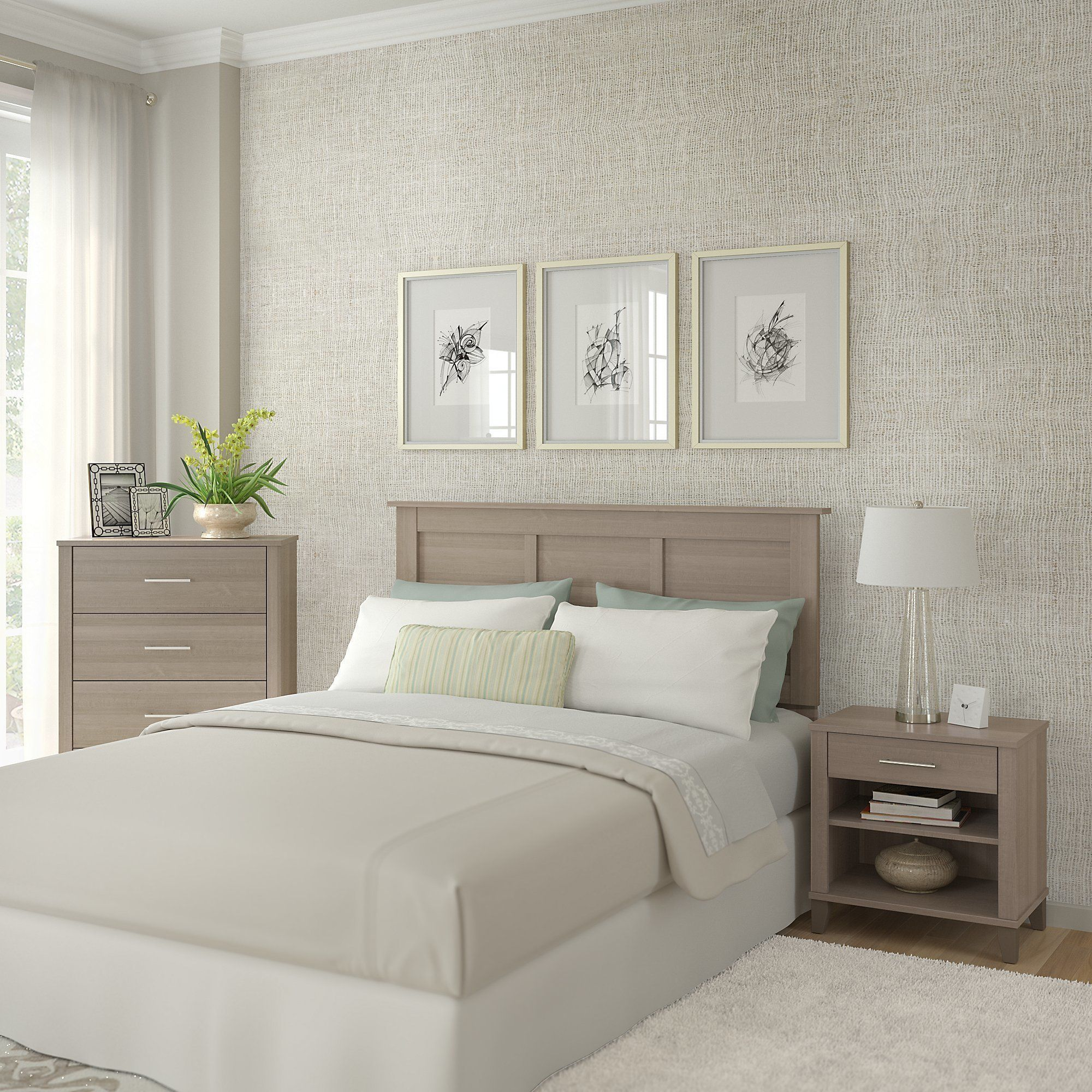 Best Strick Bolton Elizabeth Ash Grey Headboard Dresser And 400 x 300