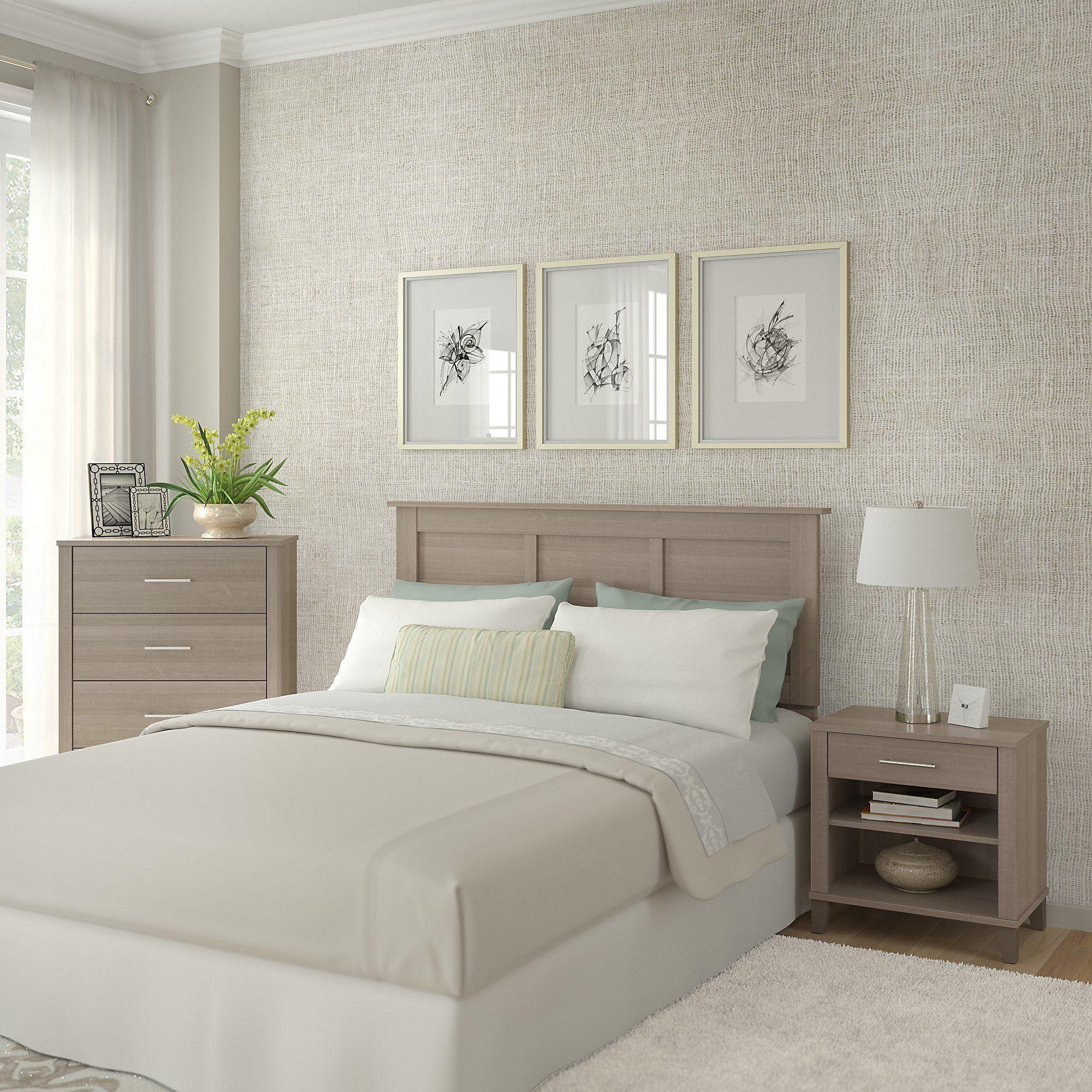 Best Strick Bolton Elizabeth Ash Grey Headboard Dresser And 400 x 300