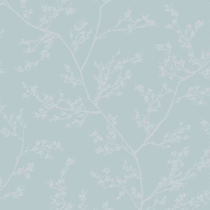 Springtime Wallpaper In Blue And Grey From The Pure Collection By Graham Brown
