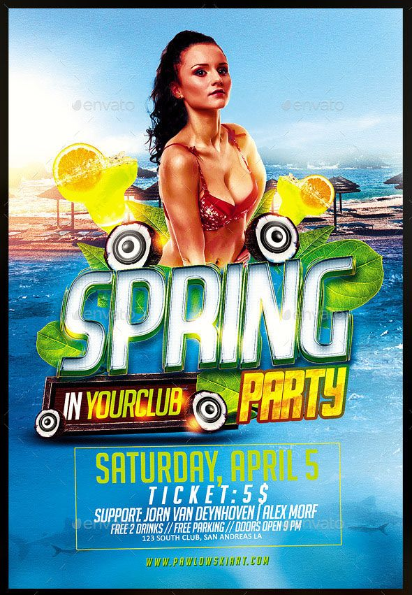 Spring Party Flyer Psd Template Spring Parties Are Good And