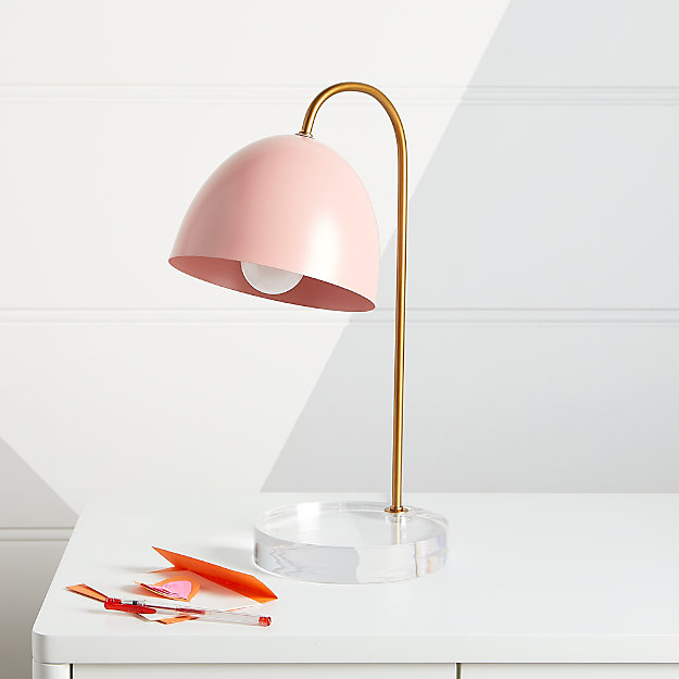 Glam Pink And Gold Table Lamp Reviews, Pink Kids Lamp