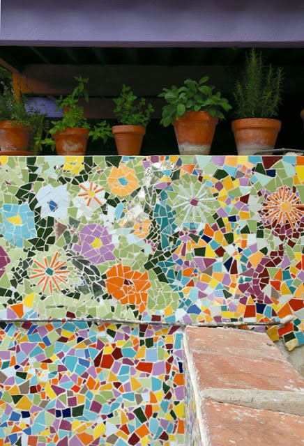 Mosaic patio #walls       #mosaic #art