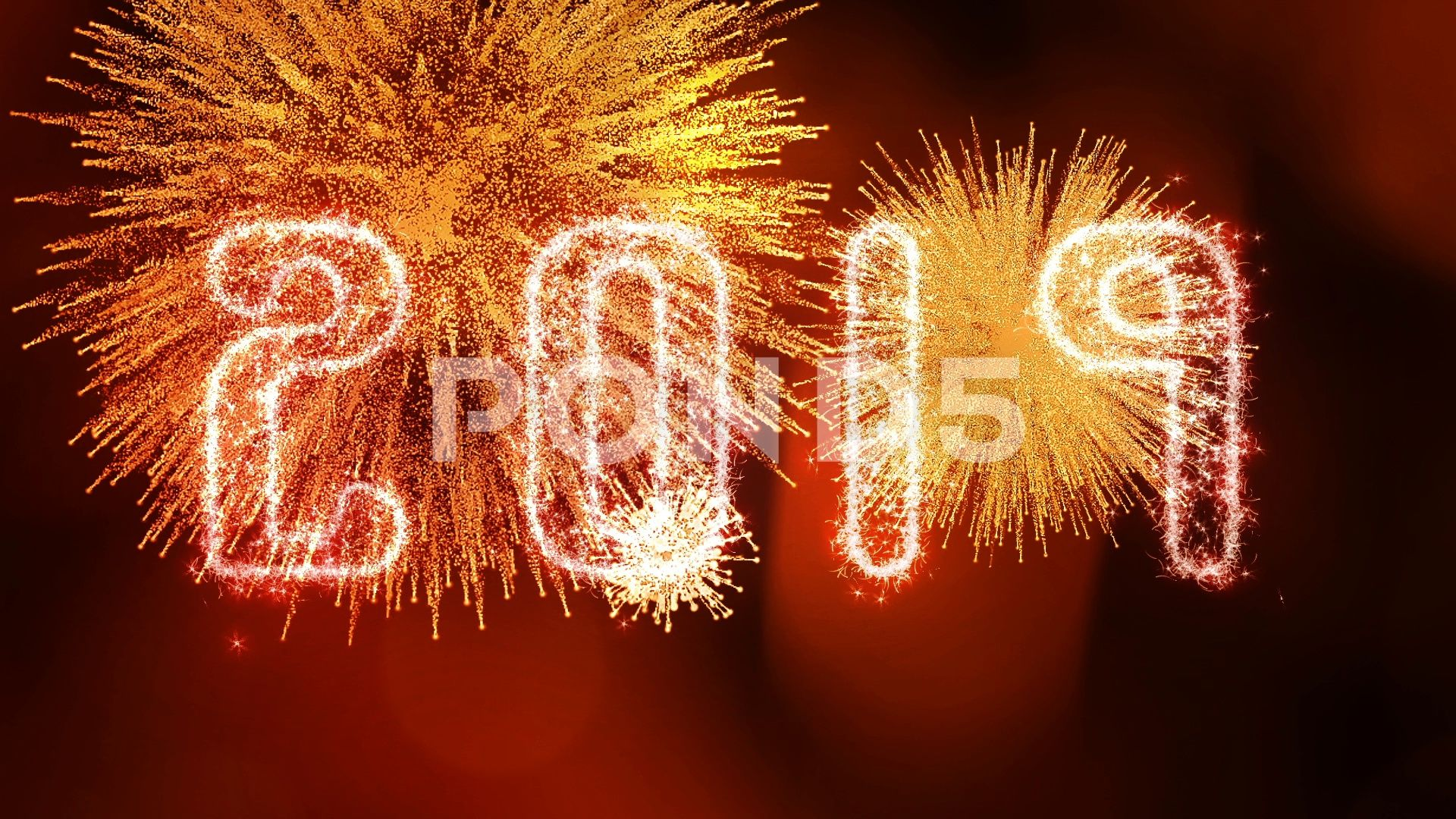Sparkling Golden 2019 New Years Eve Celebration and