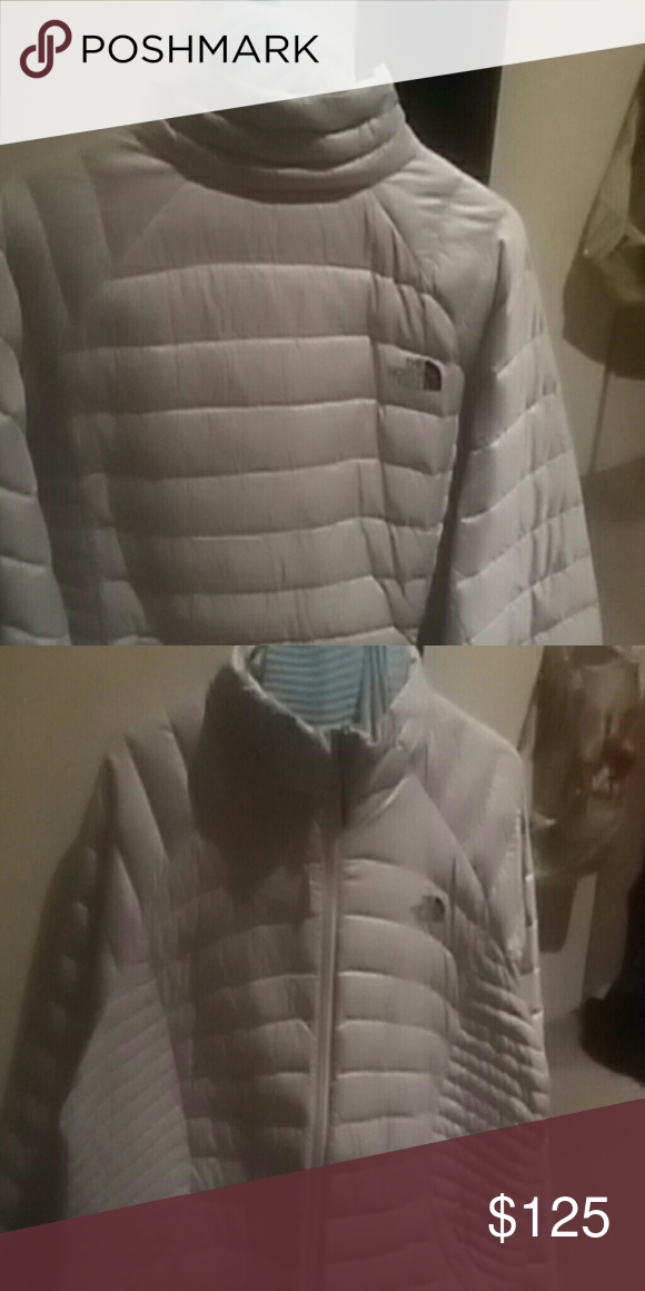 North Face light gray north face jacket North Face Jackets & Coats