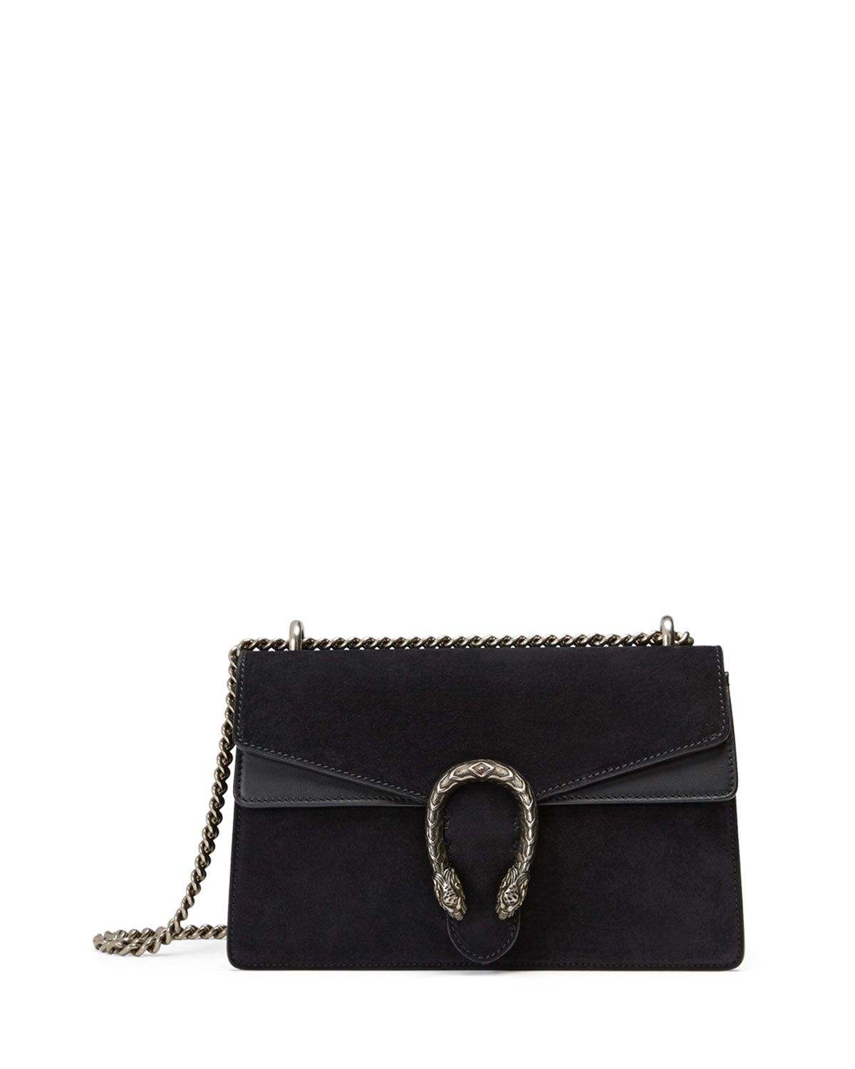 c76041c93456 Testa Tigre Small Suede Dionysus Shoulder Bag Black | *Neiman Marcus ...