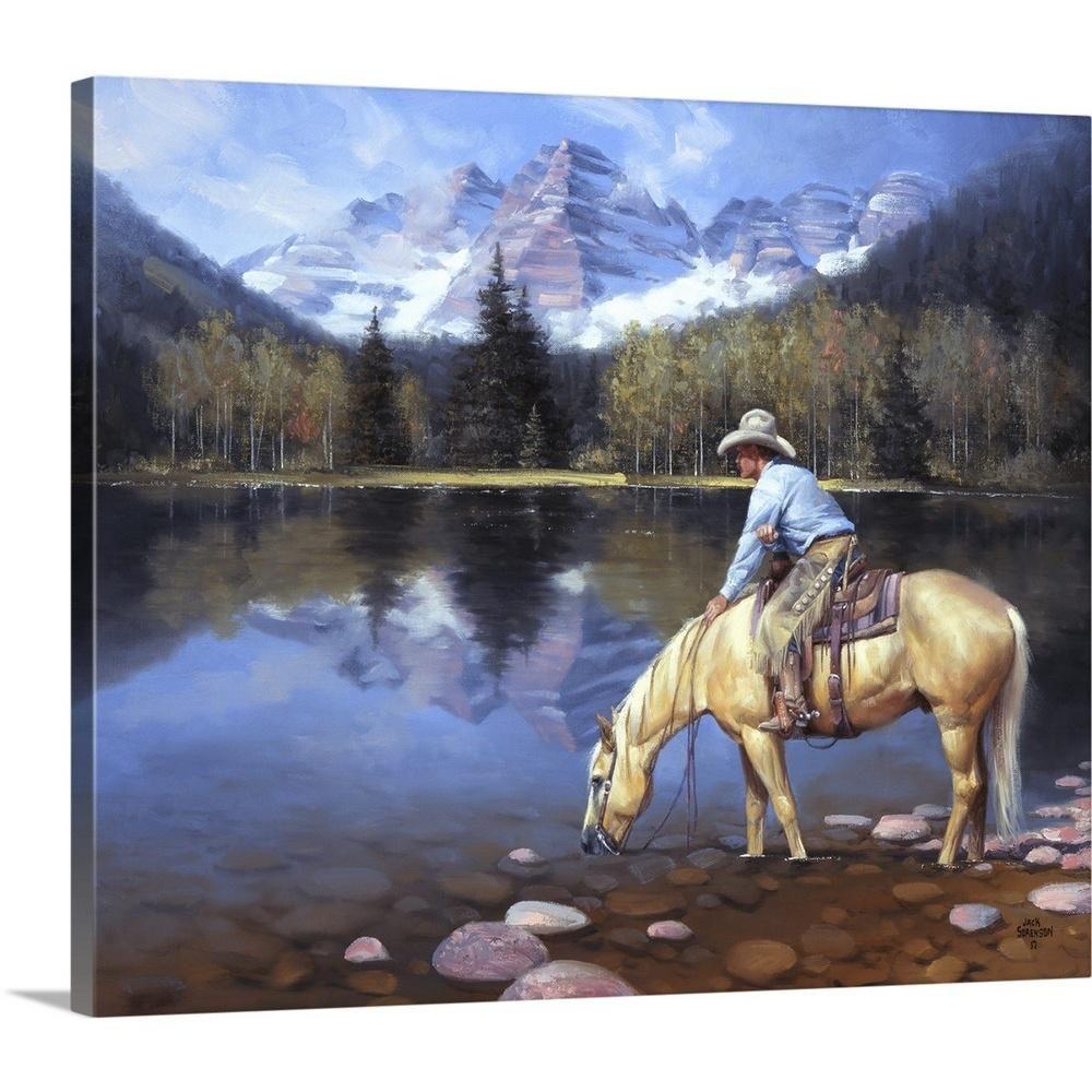 Colorado Cowboy By Jack Sorenson Canvas Wall Art Multi Color West Art Art Western Artwork