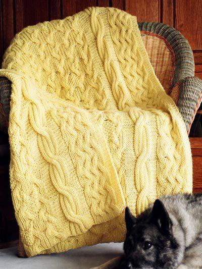 Cable Afghan Knitting Patterns | Manta, Tejido en agujas y Dos agujas