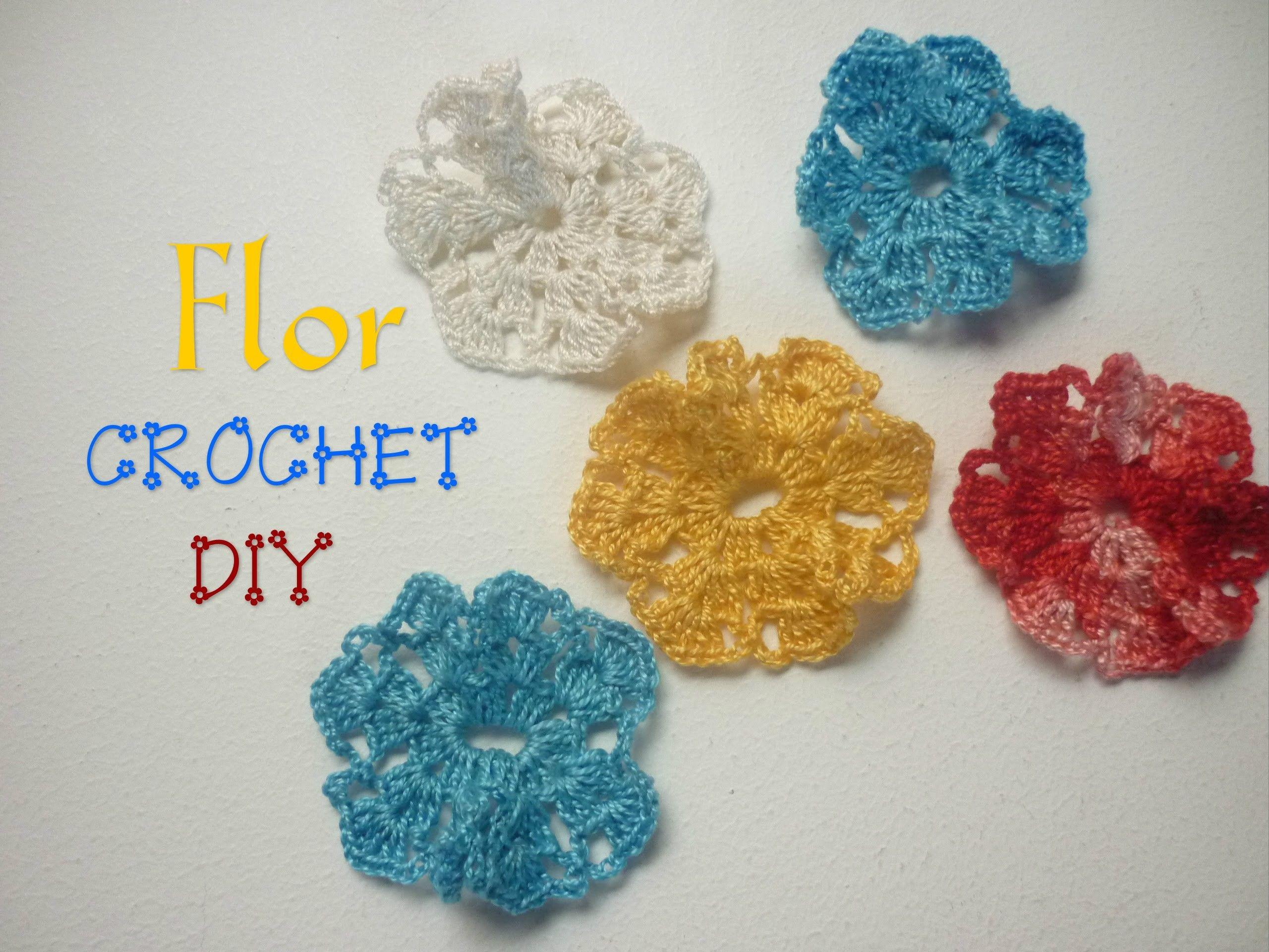 Manualidades COMO hacer FLOR en CROCHET DIY CROCHET FLOWER in DIY
