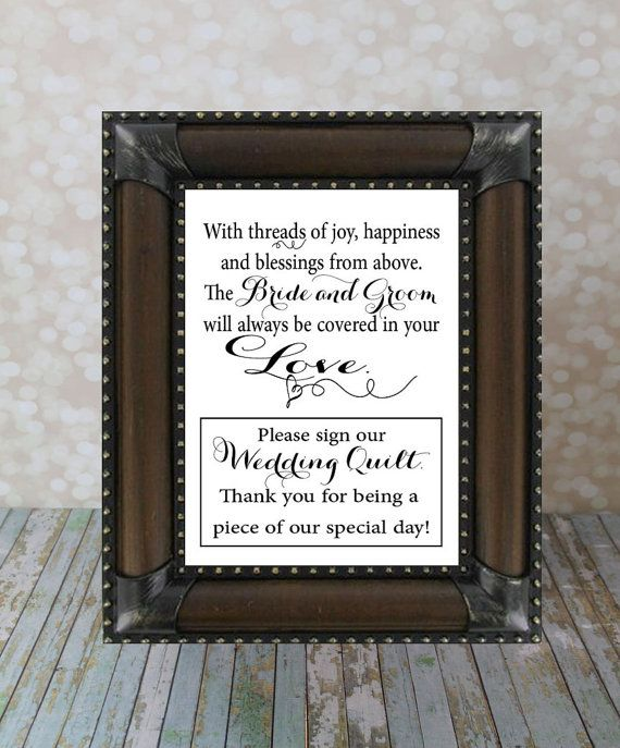 Bathroom Sign In Book please sign our wedding quilt guest bookourhobbytoyourhome