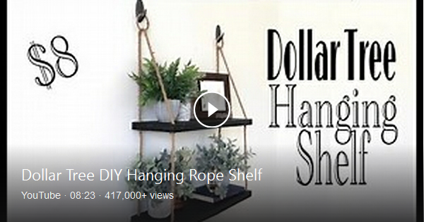 This Dollar Tree Diy Hanging Rope Shelf Is Perfect For