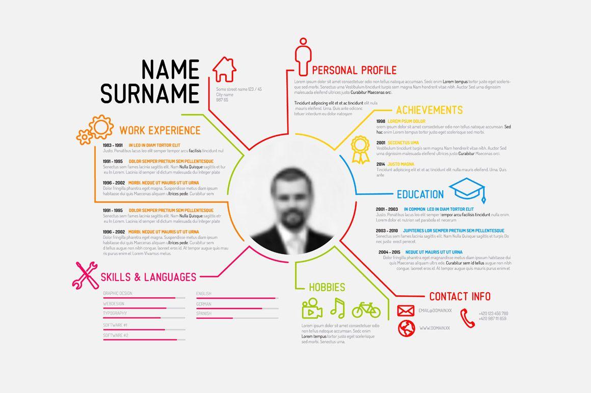 Resume Template Resume Design Template Creative Resume Templates Infographic Resume