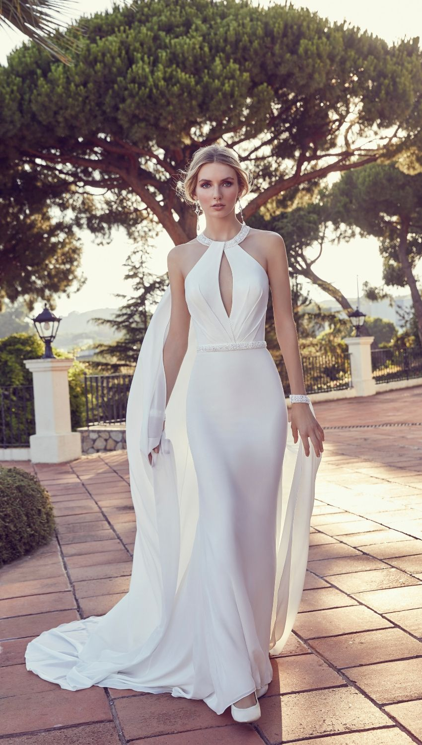 Calissa by Ronald Joyce showcases not only a halterneck wedding dress but  also one with halter ab4ebbc7c3fa