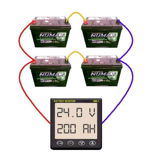 SeriesParallel bined battery bank wiring diagram