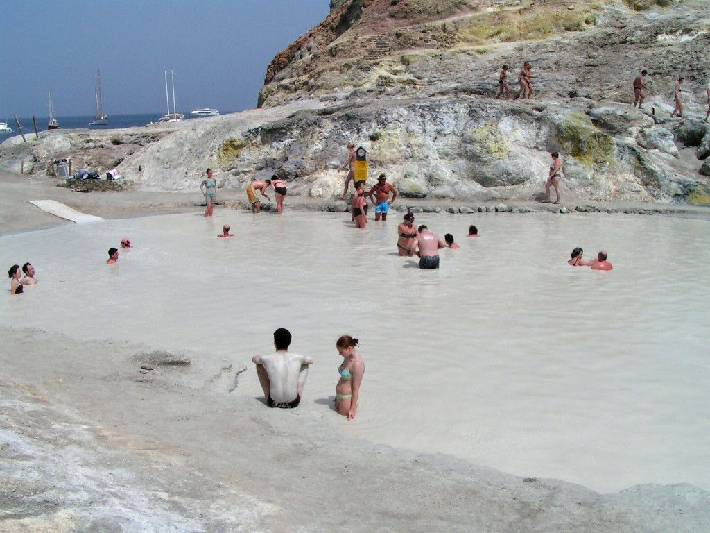 SICILY Sulphur baths on Vulcano island Aeolian Islands Under